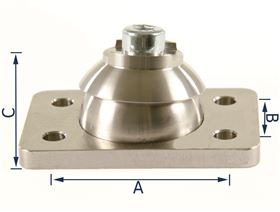 ball and socket joint for adjustable pads , (right or left-side fitting)