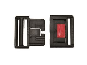 centre release plastic buckle , with red centre release