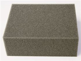foam type viscoelastic, hardness degree: hard (colour grey)