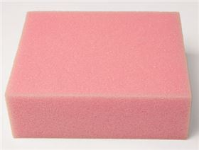 foam type viscoelastic, hardness degree: medium (colour pink)