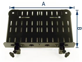 footrest with heelledge, including rigid foot angle