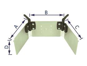 headrest plate for adjustable headrest