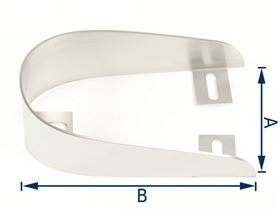 heel loop, curved, stainless steel V2A
