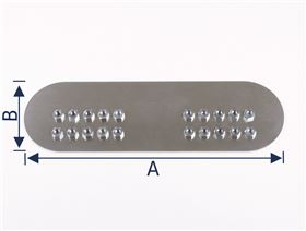 mounting plate for armrest padding, straight with drive-in nuts M6