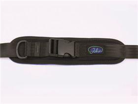pelvis belt with plastic buckle and pad, adjustable on one side