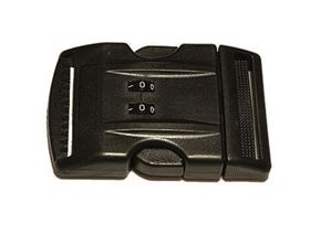 plastic buckle with combination lock