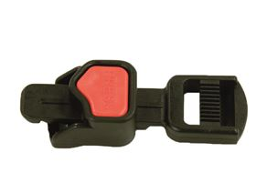 plastic ratchet buckle EXTRA SMALL, 15 mm adjustable on one side