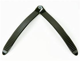 plastic ratchet fastener lace, width 22 mm, rivet on