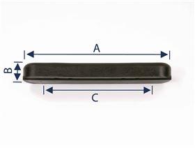 polyurethane armrest padding, straight