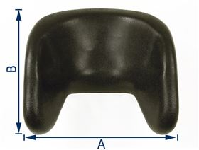 polyurethane headrest with lateral support