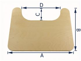 rimless therapy table with cutout