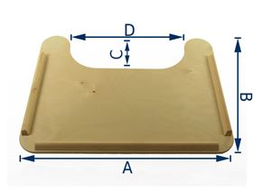 rimmed therapy table with cutout