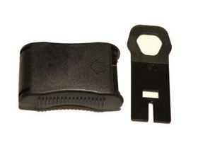 safety plastic buckle with flat key, additionally with spare key