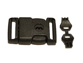 safety plastic buckle with key, additionally with spare key