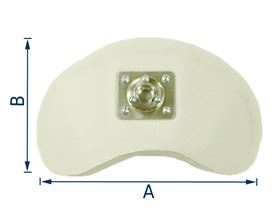 shell-shaped headrest with socket joint support