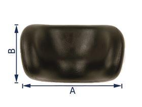 shell-shaped polyurethane headrest