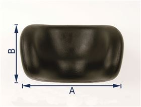 shell-shaped polyurethane headrest