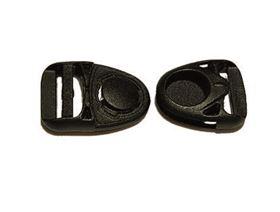 side release plastic buckle , revolving sideways approx. 120°