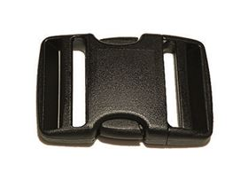 side release plastic buckle, two-part, adjustable on two sides
