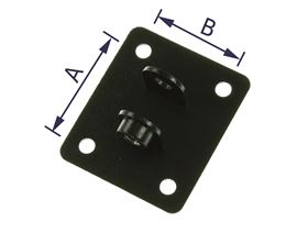 socket joint support for headrests with steel-chromed plate