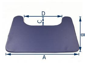 therapy table cushioning 2 cm, including velcro for fixation
