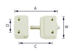 """thoracic pad bracket """"TP40"""", sliding in, with ball lock bolt"""