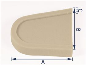 thoracic pad cushioning, machined (right or left-side fitting) foam RG 40