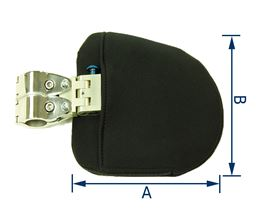 thoracic pad thickness 3 cm, for ø 22 mm or ø  25 mm (right or left-side fitting), folding function