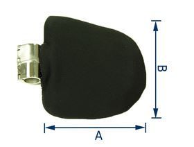 thoracic pad thickness 3 cm, for ø 22 mm or ø 25 mm (right or left-side fitting), rigid