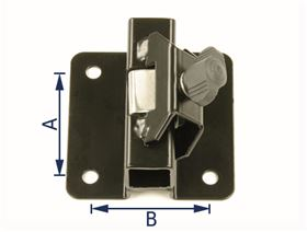 universal bracket - clamping system, cranked (10 mm)
