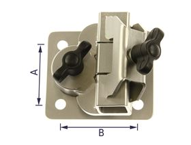 universal bracket - clamping system, movable, cranked