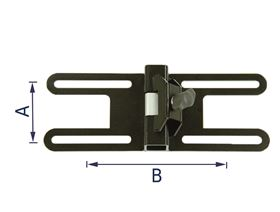 universal bracket - clamping system, movable, straight