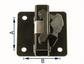 universal bracket - clamping system, straight