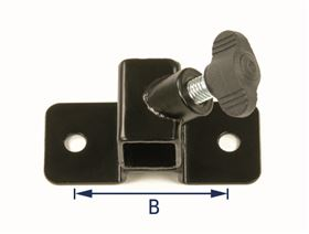 universal bracket, cranked (10 mm), 2-hole with wing bolt