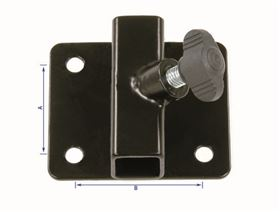 universal bracket, straight, 4-hole with wing bolt (size 1 for armrest support, size 2 for